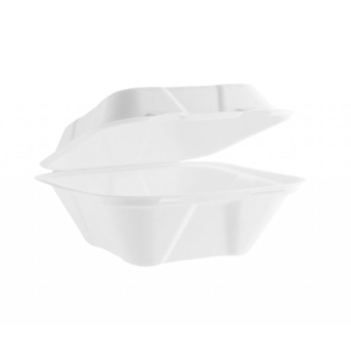 7x7'' Bagasse Clamshell