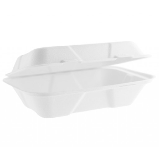 9x6'' Bagasse Clamshell