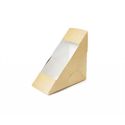 Compostable Kraft Deepfill Sandwich Wedge (75mm)