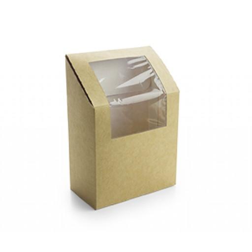 Compostable Kraft Tortilla Wrap Box