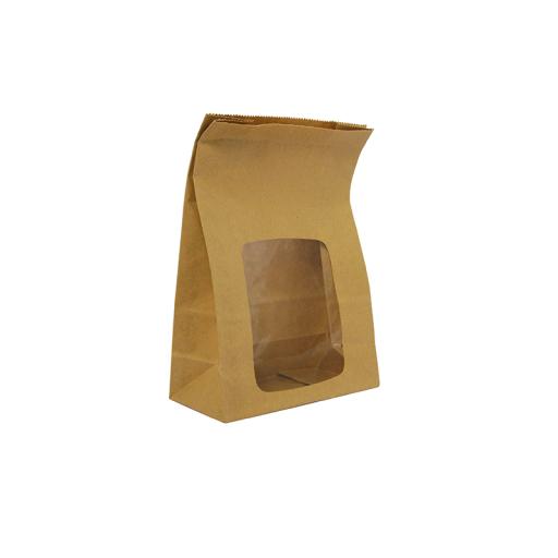 Kraft NatureFlex Window Bloomer Bag (6x3x9'')