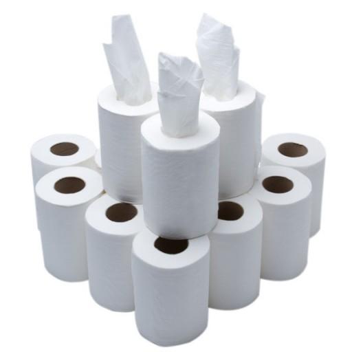 White Mini Centrefeed Rolls